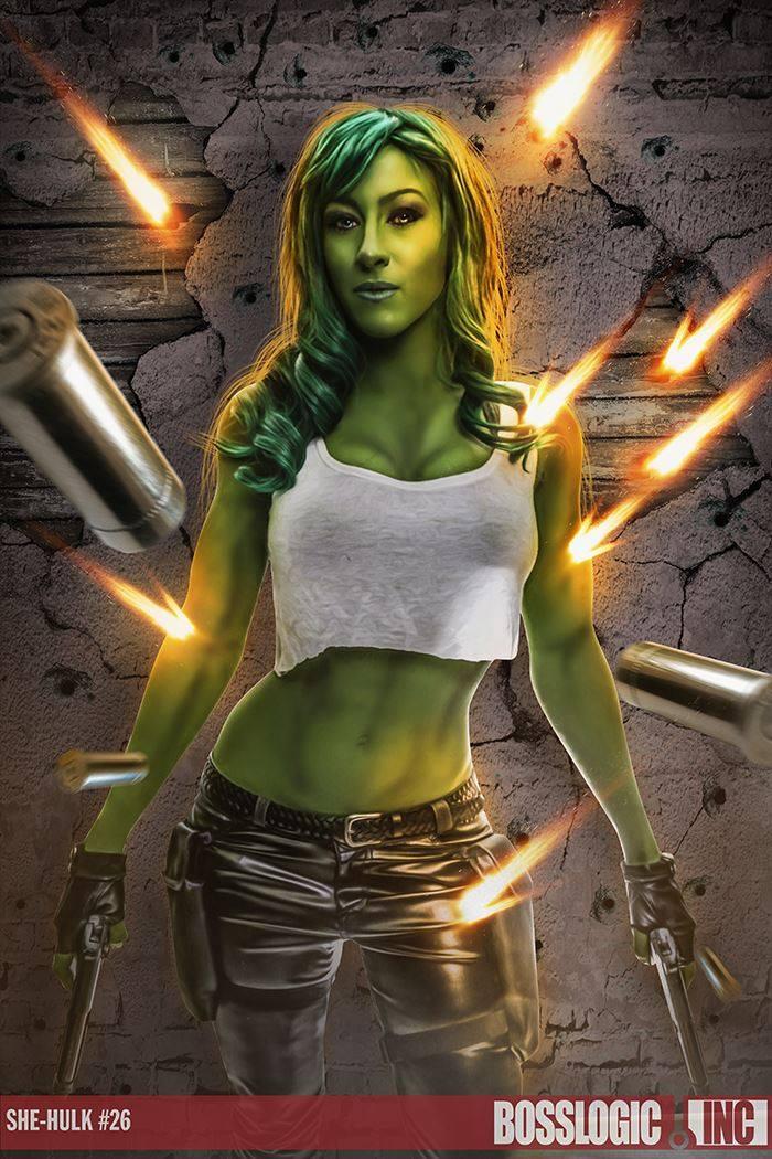 She-Hulk Cosplay by femmefatale23