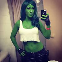 She-Hulk Selfie! by femmefatale23