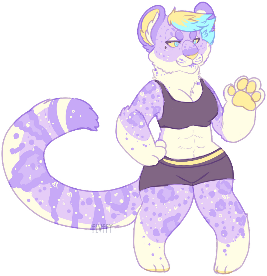 lavender snow leopard ota CLOSED by flvffy