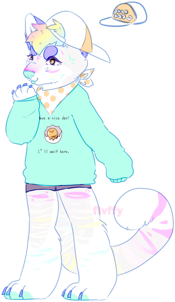 pastel doggo/tiger by irlnya