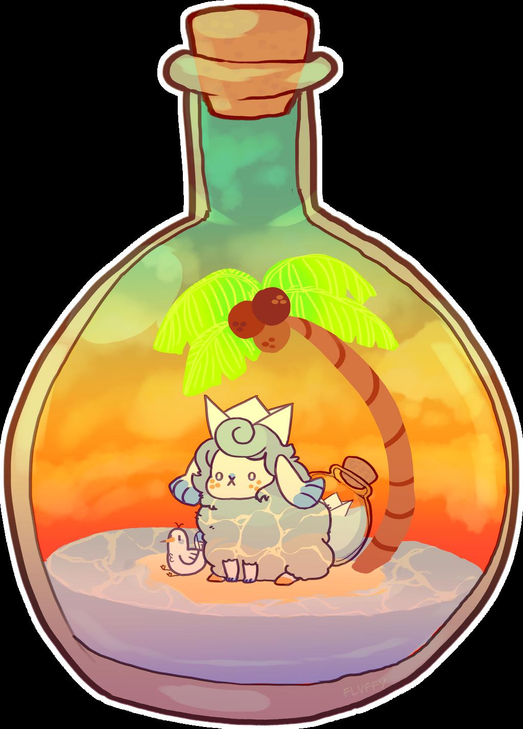 bottled sunset by irlnya