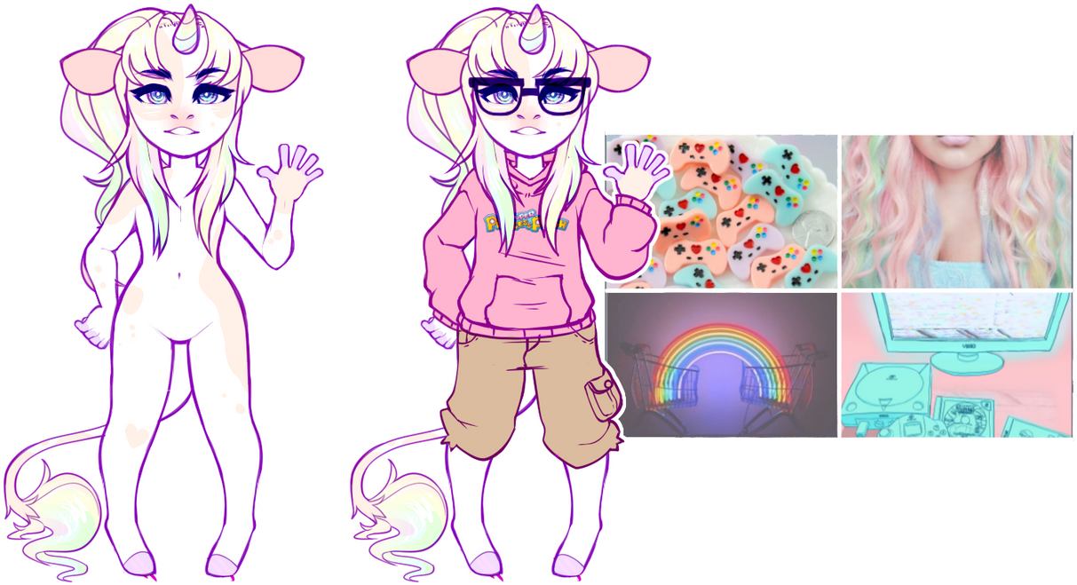 aesthetic adopt reveal: rainbow gamer by irlnya