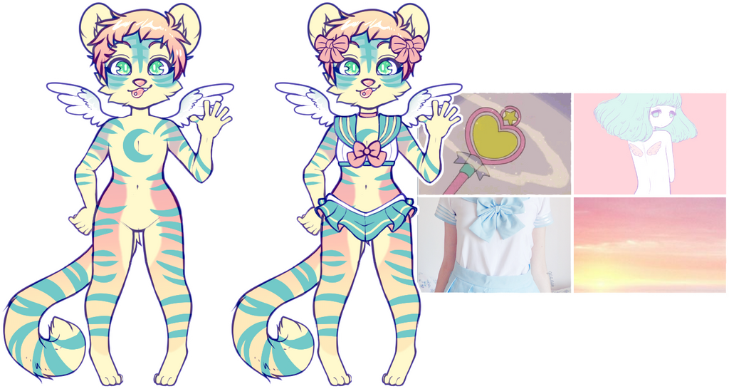 aesthetic adopt reveal: angel magical girl by irlnya