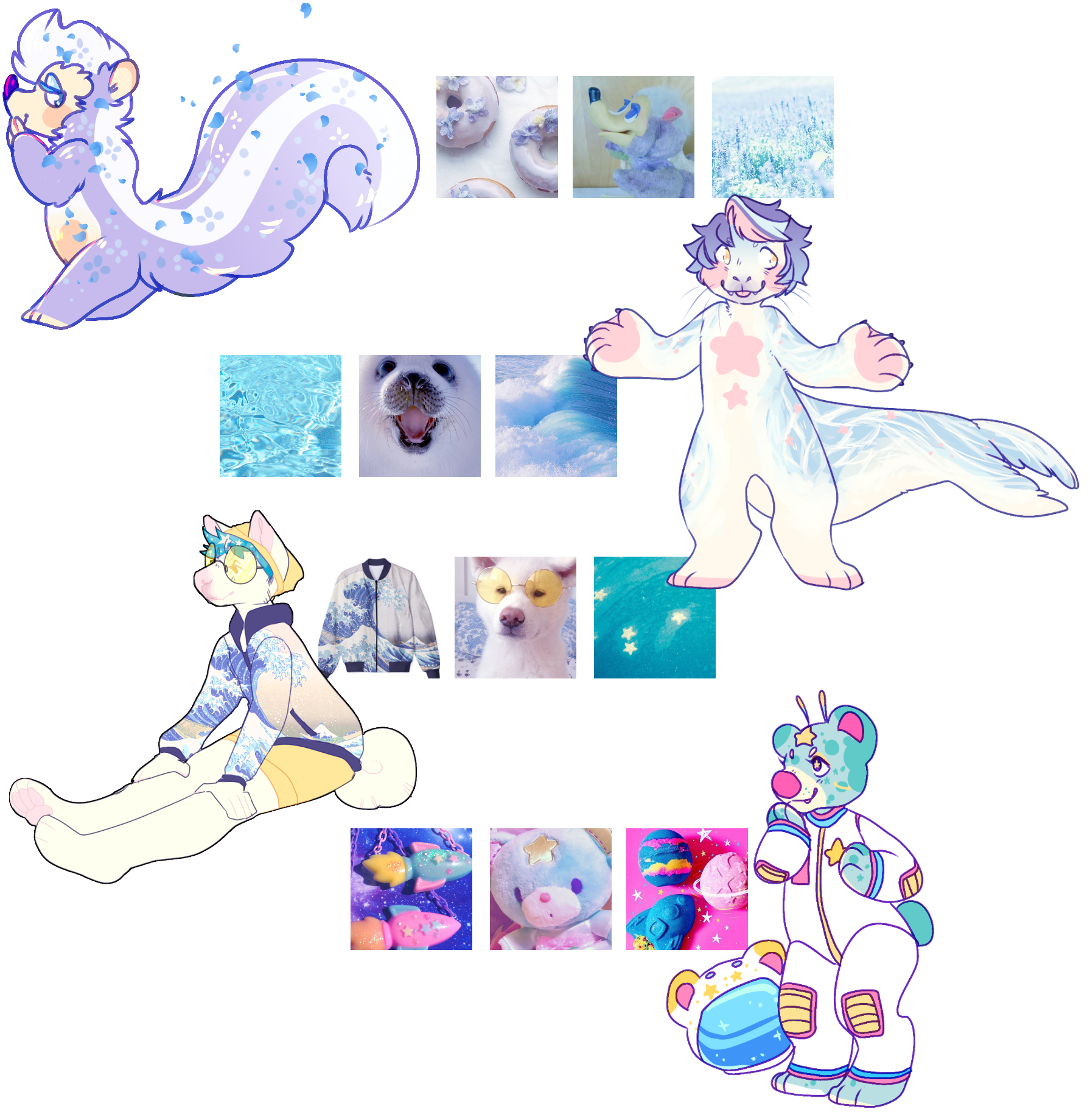 AESTHETIC ADOPTS | blue | CLOSED by irlnya