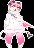 AESTHETIC ADOPT REVEAL: pastel demon cat by khoshehktoys