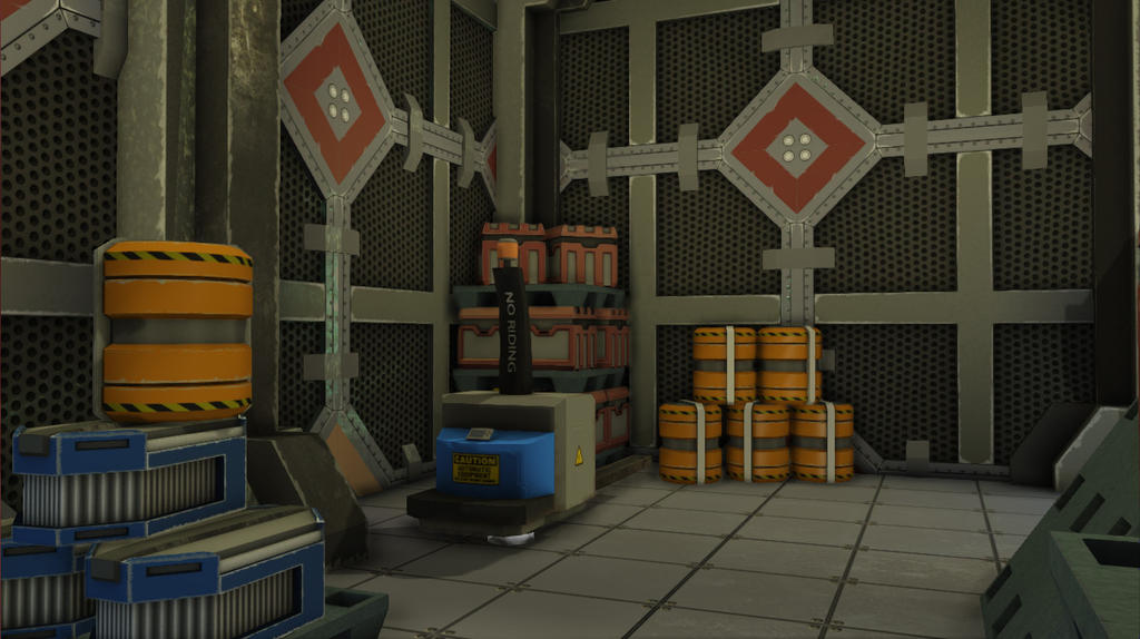 The Palace.  Sci_fi_udk_level_4___storage_room_by_wesleypaquette-d7qfuo9