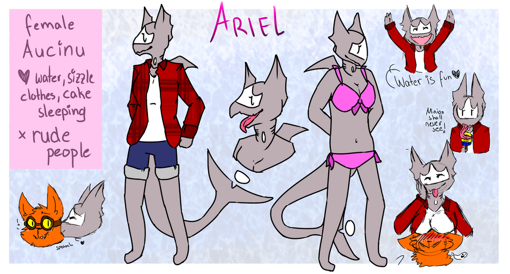 Ariel ref sheet - By qayspace by sizzlesizzle123