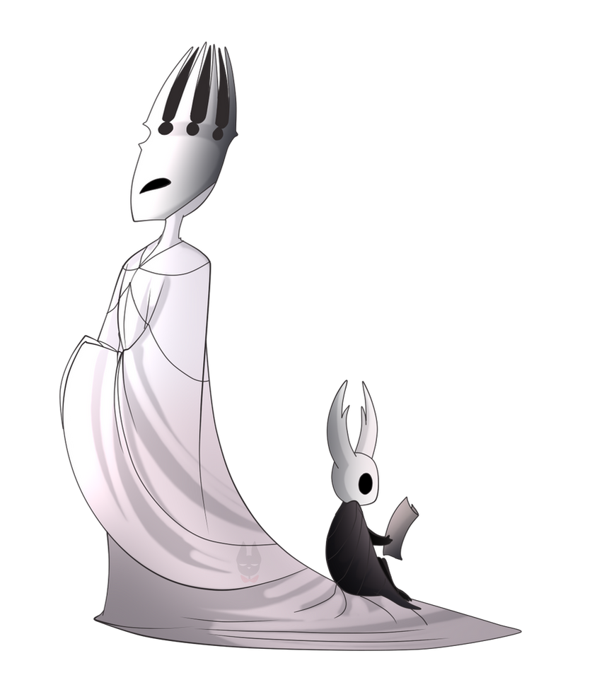 Hollow Knight - Pale King and Hollow Knight by Electra-Draganvel