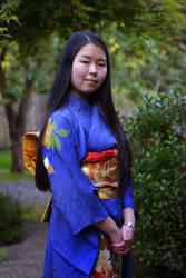 me in meh grandma's kimono by tsunamia
