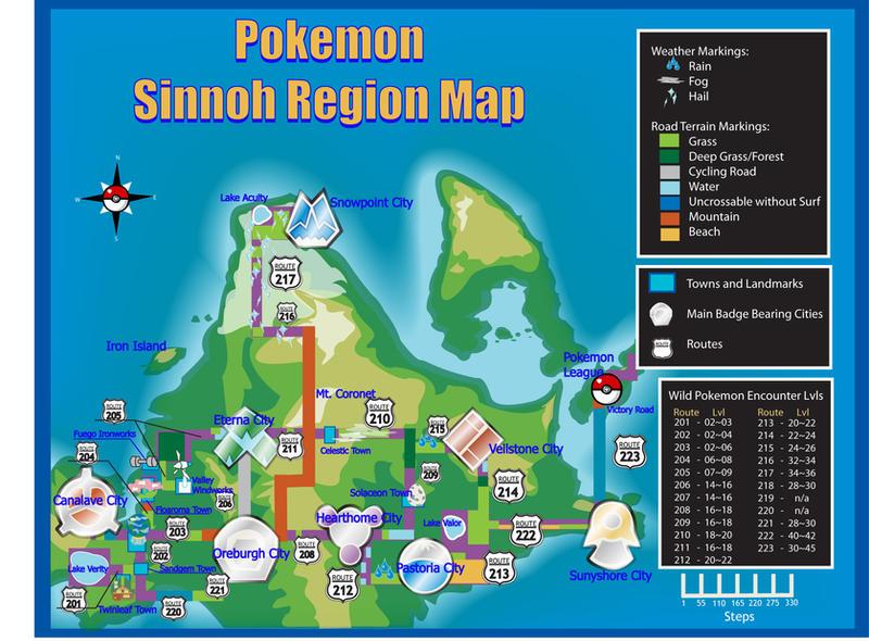 pokemon sinnoh map by tsunamia on DeviantArt