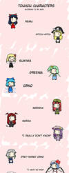 Touhou Characters According to My Mom by Goomba98