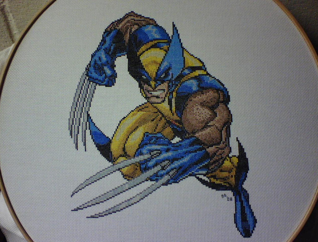 Wolverine Cross-Stitch by saber4734