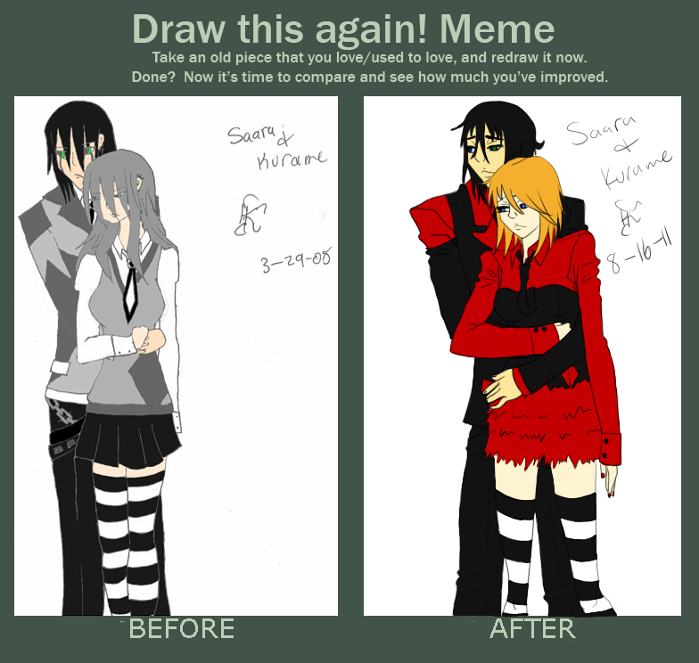 redraw meme-school uniform S+K by saara-sama