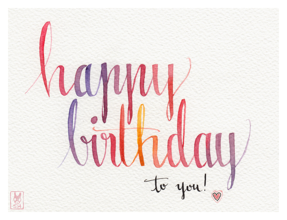 Happy Birthday By SusannH