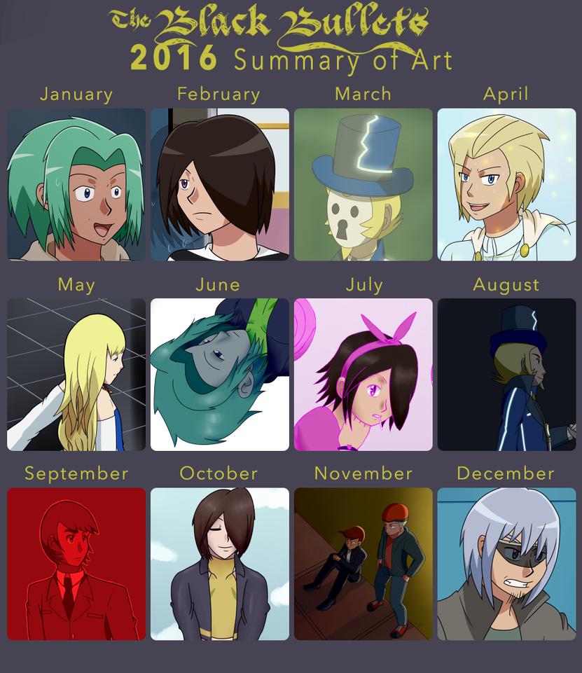 2016 Summary of Art by TheBlackBullets