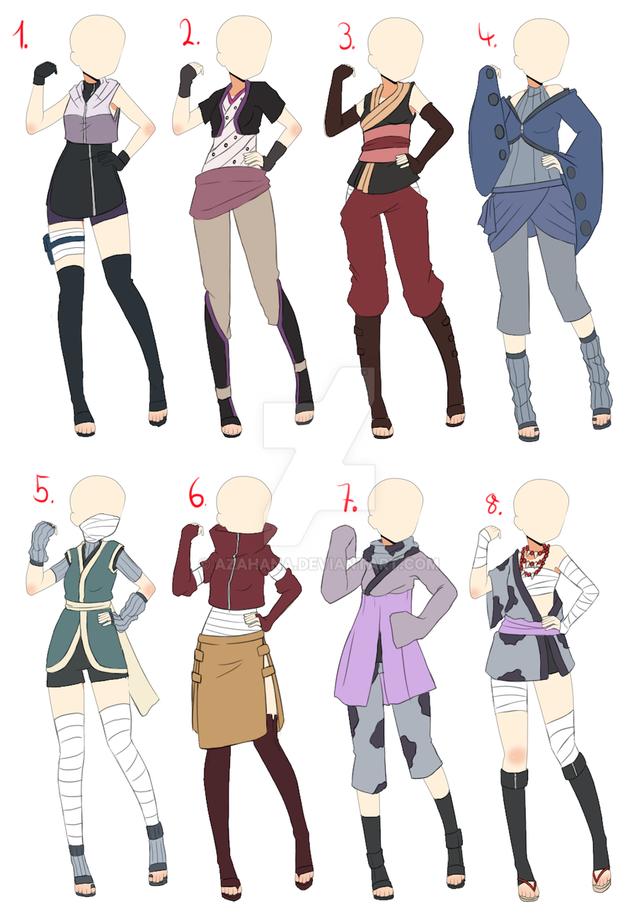 ClosedNaruto Outfit adopt batch 1 by AzaHana on DeviantArt