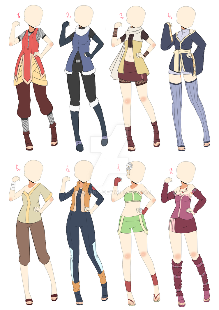 [Open] Naruto Outfit Batch 2 by AzaHana on DeviantArt