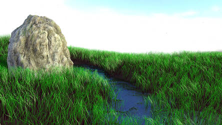 Grassy Landscape River