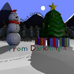 [Low-Poly] Merry Christmas! by DarkKnightPL