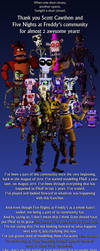 Thank You Five Nights at Freddy's! by DarkKnightPL