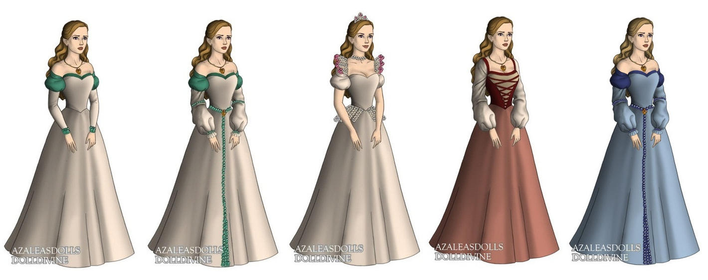 Odette (Swan Princess) outfits by sarasarit