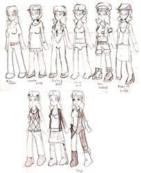 Kira's Costumes by monoclelad