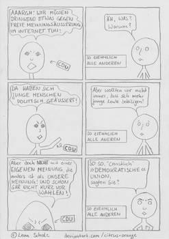 Karikatur CDU AKK zur Meinungsfreiheit