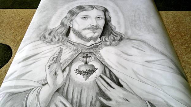 Jezus 80cm na 80cm