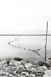 fishing nets Etang de l'Arnel