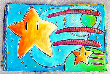 Mario Stars by krissasaur