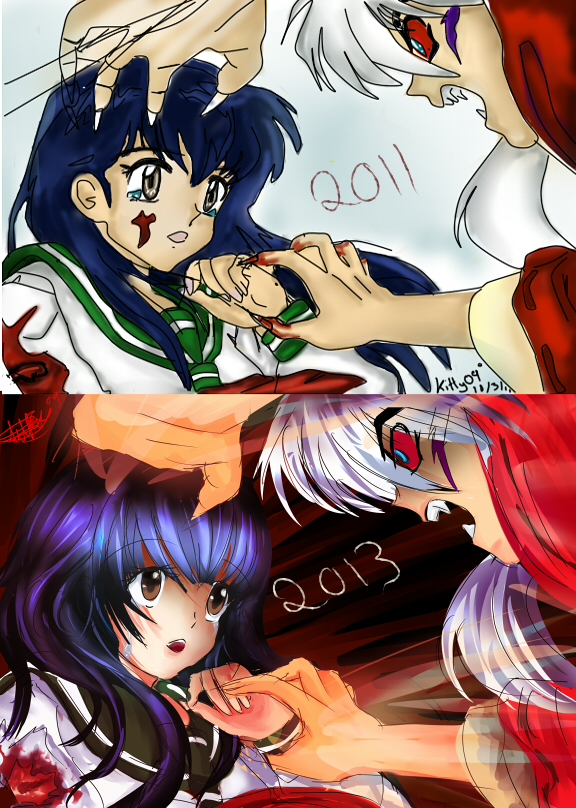 Inuyasha before and after by lilKitty09