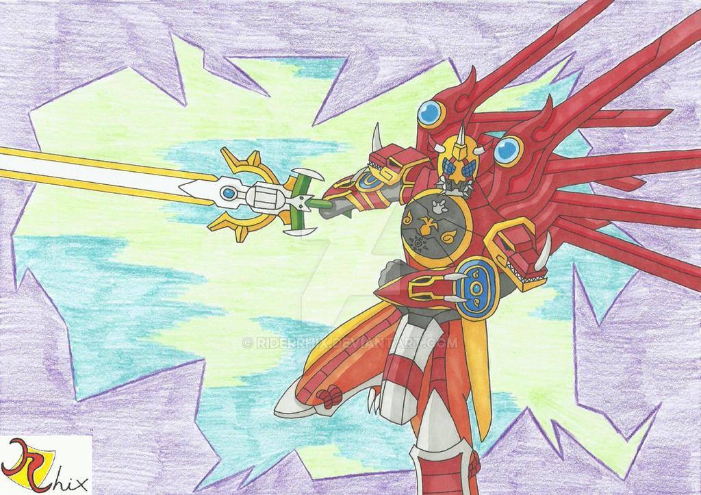 Kamen Rider OOO Greymon Combo by RiderRhix on DeviantArt