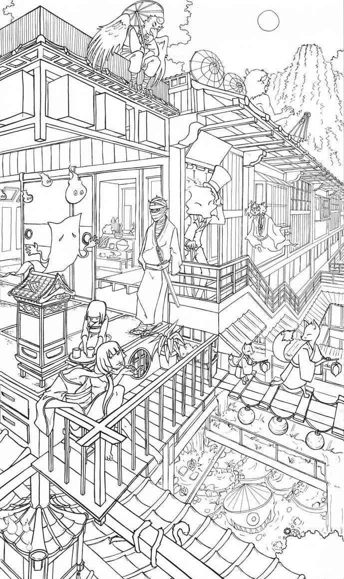 World of yokai by Keidensan