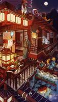 World of yokai - coloring by Keidensan