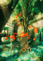 The lost train station by Keidensan