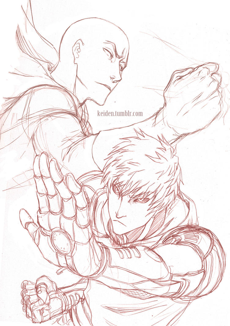 One punch man - sketch by Keidensan