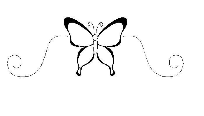 Butterfly Outline 2 by ~CheshireSmile88 on deviantART