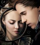 Les Miserables-Cosette and Marius Portrait