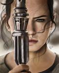 Star Wars-The Force Awakens-Rey Portrait