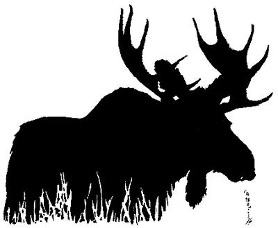 moose silhouette by brazilrocker25 on deviantart cartoon moose images clipart moose images clipart