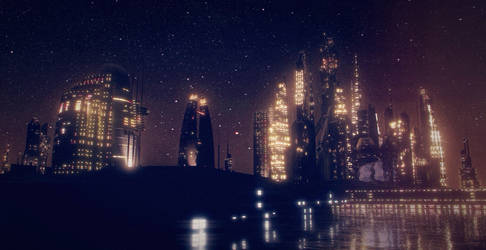 Midnight Skyline by Diston