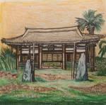 Oro nui village temple by kanjikamehameha