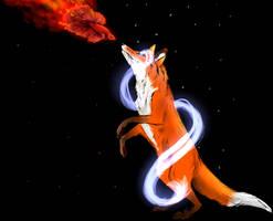 Spiritual Fox And Fish