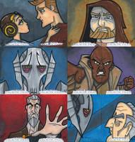 Star Wars Galactic Files Sketchcards Part 3 by briandeguireart
