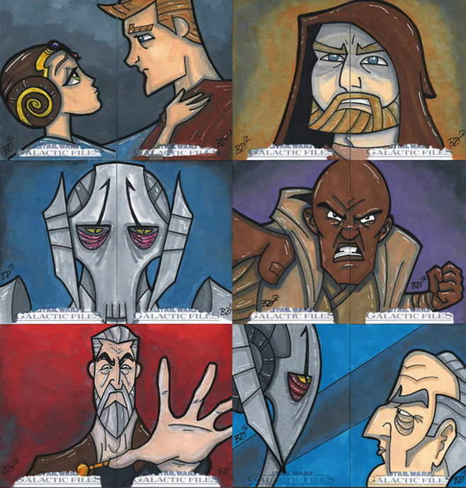 Star Wars Galactic Files Sketchcards Part 3 by bdeguire