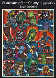 Guardians of the Galaxy Sketch Cards by briandeguireart