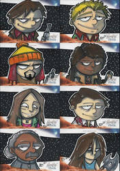 Firefly Sketch Cards by briandeguireart