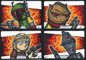 Empire Strikes Back Illustrated - Bounty Hunters!
