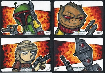 Empire Strikes Back Illustrated - Bounty Hunters! by bdeguire