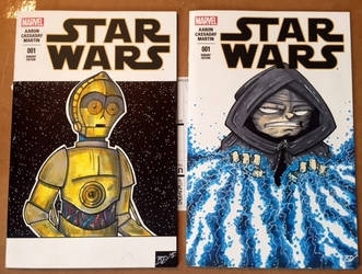 Star Wars Sketch Covers by briandeguireart